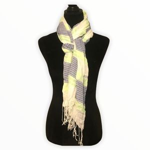 Maurices Striped Scarf green and blue